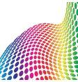 halftone retro dots 3d vector image vector image