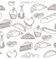 bakery assortment pattern vector image
