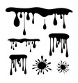 Black Splash - Stain - Blot Set vector image