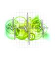 grid graph vector image
