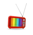 Red tv vector image