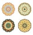 Set of four mandalas Hand drawn vector image