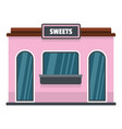 sweet shop icon flat style vector image