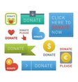 Donate buttons set vector image