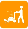 Person Mowing Grass vector image
