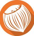 Hazelnut Icon vector image vector image