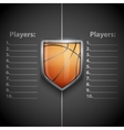 Poster Template of Basketball Emblem vector image