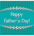 Soccer theme Fathers Day card in format vector image
