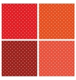 Seamless pattern set white polka red background vector image vector image