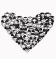 Heart People vector image