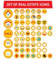 Set of 56 real estate icons vector image