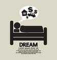 Sleep Person Symbol vector image