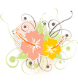 hibiscus design vector image vector image