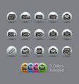 E mail Icons Pearly Series vector image