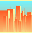 abstract futuristic city background vector image
