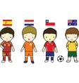 FIFA 2014 Football Players Group B vector image