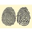 finger print email vector image