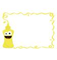 Funny Mustard Frame vector image