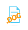 icon of document file vector image