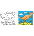 Little kangaroo coloring book vector image