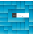 Blue abstract squares background with space for vector image vector image