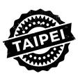 Taipei stap rubber grunge vector image