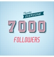 Followers Poster for Design 1 vector image