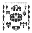 team and crowd of people set vector image