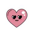 kawaii cute heart in love vector image