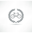 bike icon vector image vector image