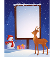 Christmas placard vertical vector image vector image