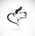 image of an bull head vector image vector image