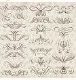 Calligraphy decorative borders ornamental rules di vector image