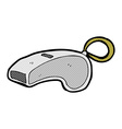 comic cartoon whistle vector image