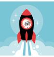 businessman in rocket vector image