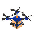 delivery drone icon isometric style vector image