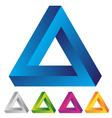 infinite triangular ring vector image