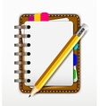 notepad for you design vector image