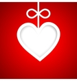 paper banner by valentines day vector image