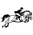 rider show jumping vector image