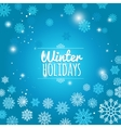 Winter holiday blue snowflakes background vector image