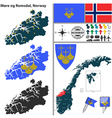 Map of More og Romsdal vector image vector image