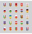 Set of football fan icon vector image