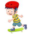 Little boy skateboarding vector image vector image