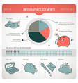 colored finance infographic vector image vector image