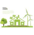 Creative renewable energy concept vector image vector image