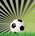 soccer ball retro background vector image vector image