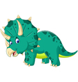 cute Triceratops cartoon for you design vector image