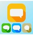 Flat icon speech bubble set vector image