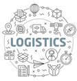 logistics linear slide for the vector image